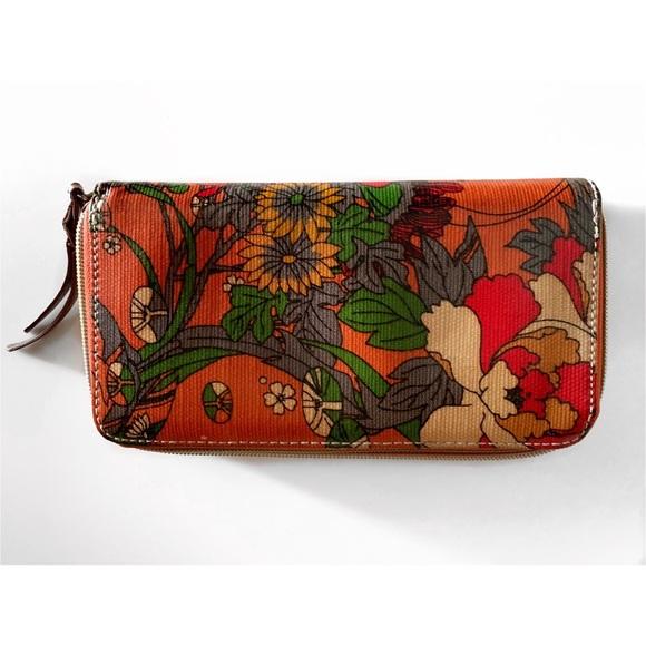 Sakroots Handbags - SAKROOTS ORANGE FLORAL WALLET